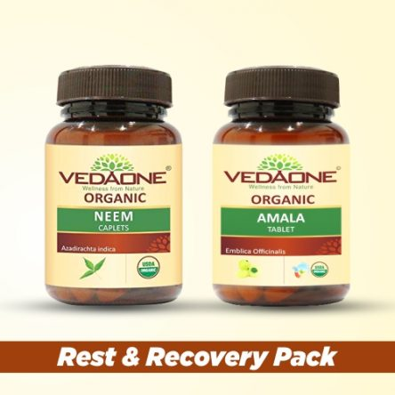 Rest & Recovery Pack: Neem & Amla (60 caplets each)